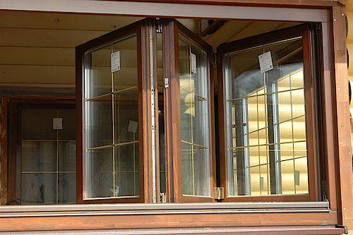 Сдвижные-складные деревянные окна