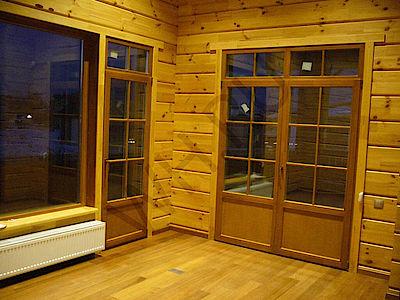 Балконная дверь с дюплексом и горбыльками